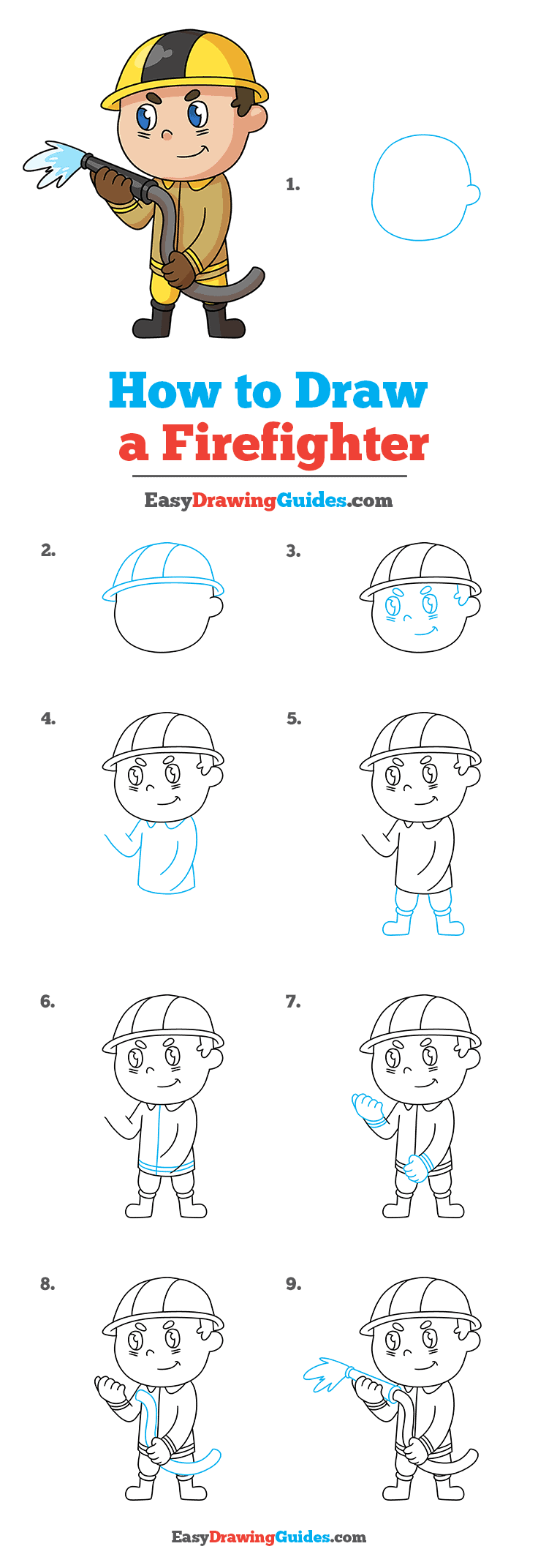 How to Draw Firefighter