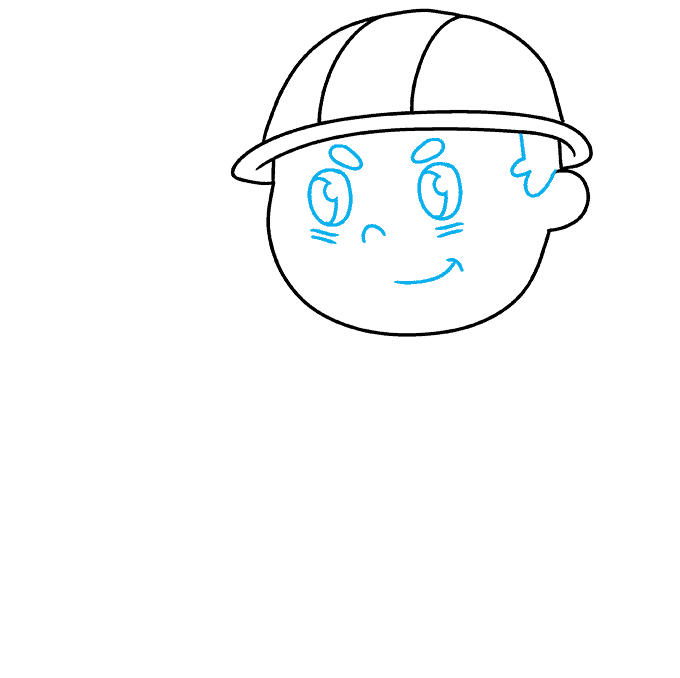 How to Draw Firefighter: Step 3