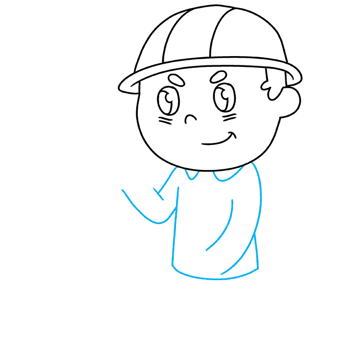 How to Draw Firefighter: Step 4