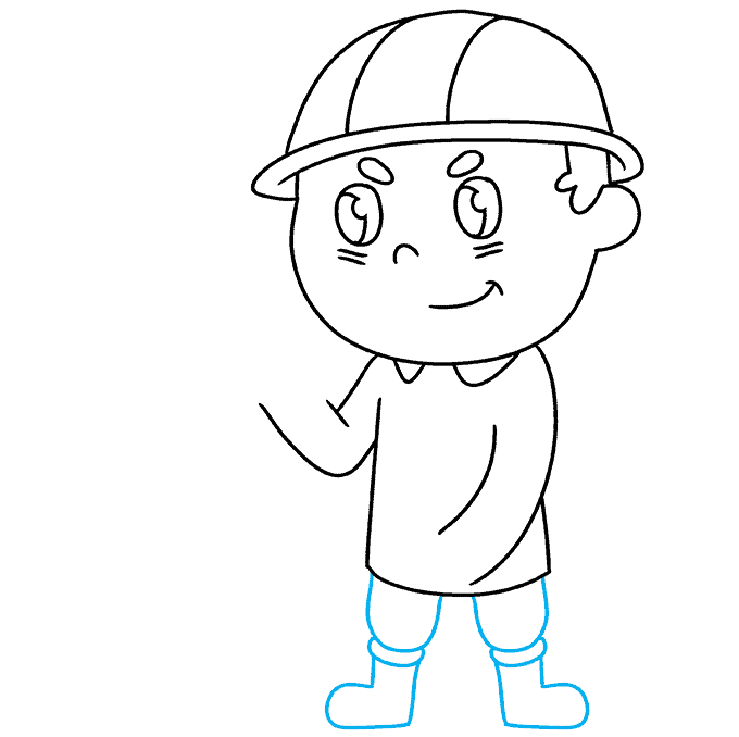 How to Draw Firefighter: Step 5