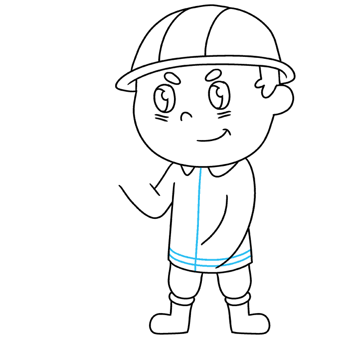 How to Draw Firefighter: Step 6