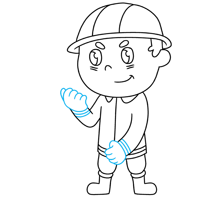 How to Draw Firefighter: Step 7