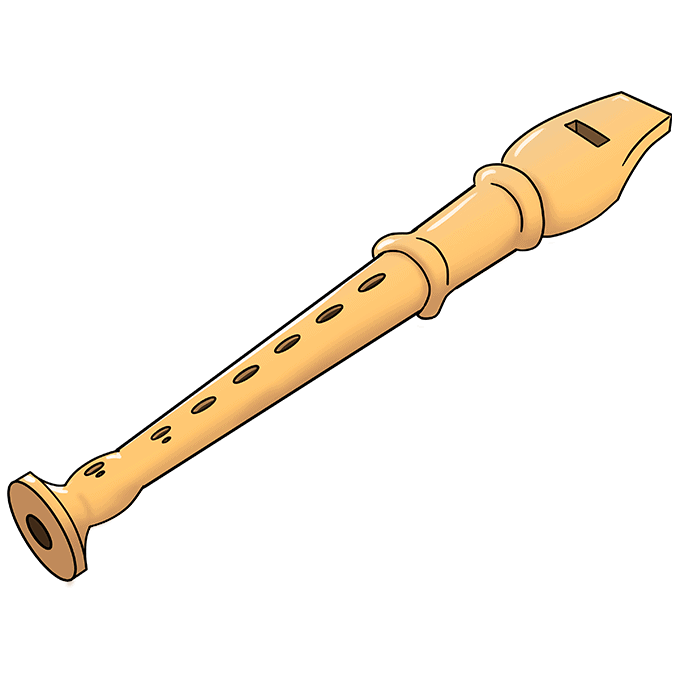 How to Draw Flute: Step 10