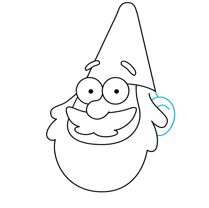 How to Draw Gnome from Gravity Falls: Step 6
