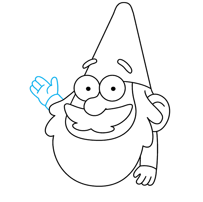 How to Draw Gnome from Gravity Falls: Step 8