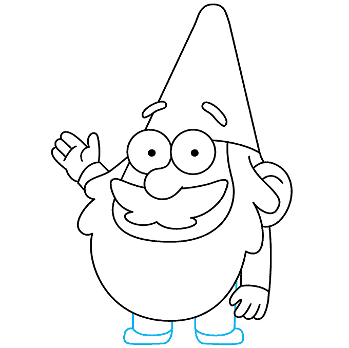 How to Draw Gnome from Gravity Falls: Step 9