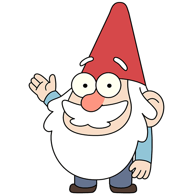 How to Draw Gnome from Gravity Falls: Step 10