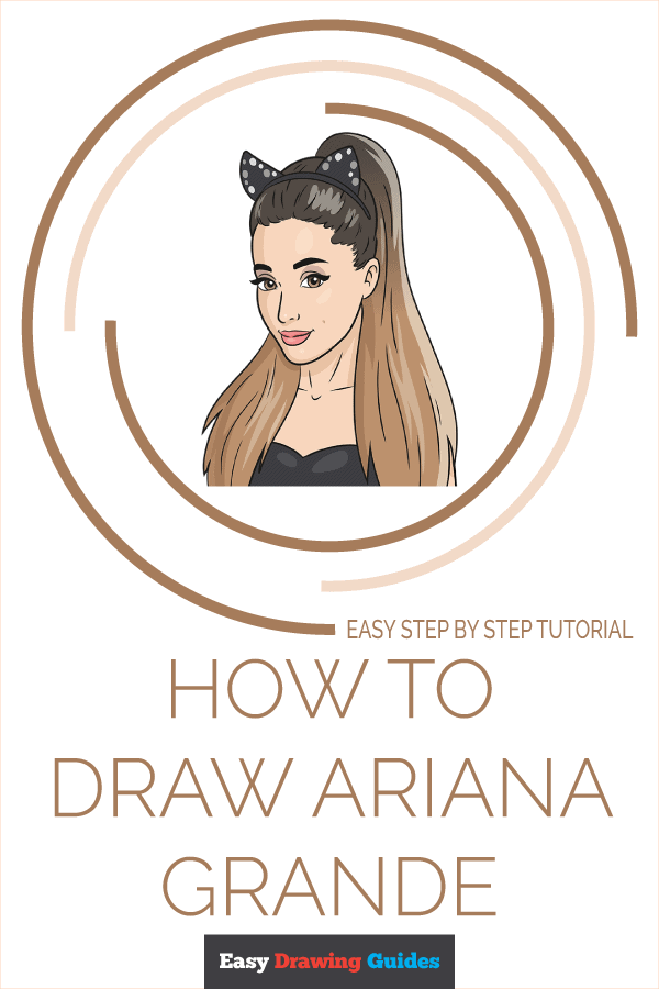 How to Draw Ariana Grande | Share to Pinterest