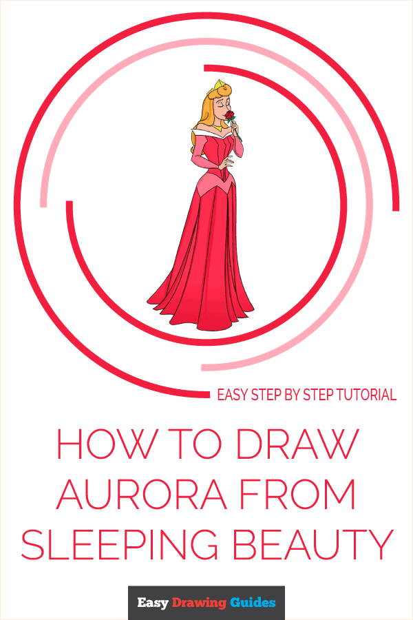 How to Draw Aurora from Sleeping Beauty Pinterest Image