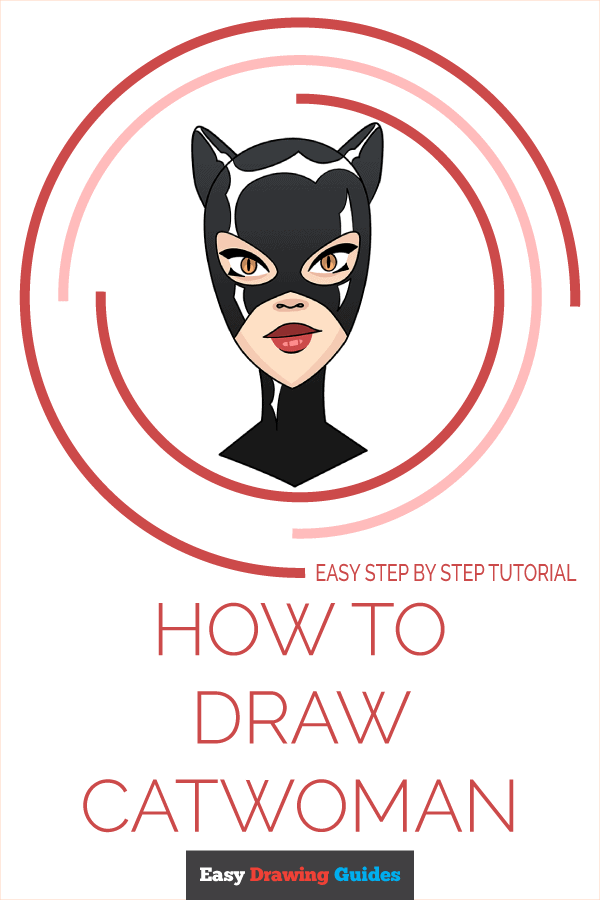 How to Draw Catwoman | Share to Pinterest