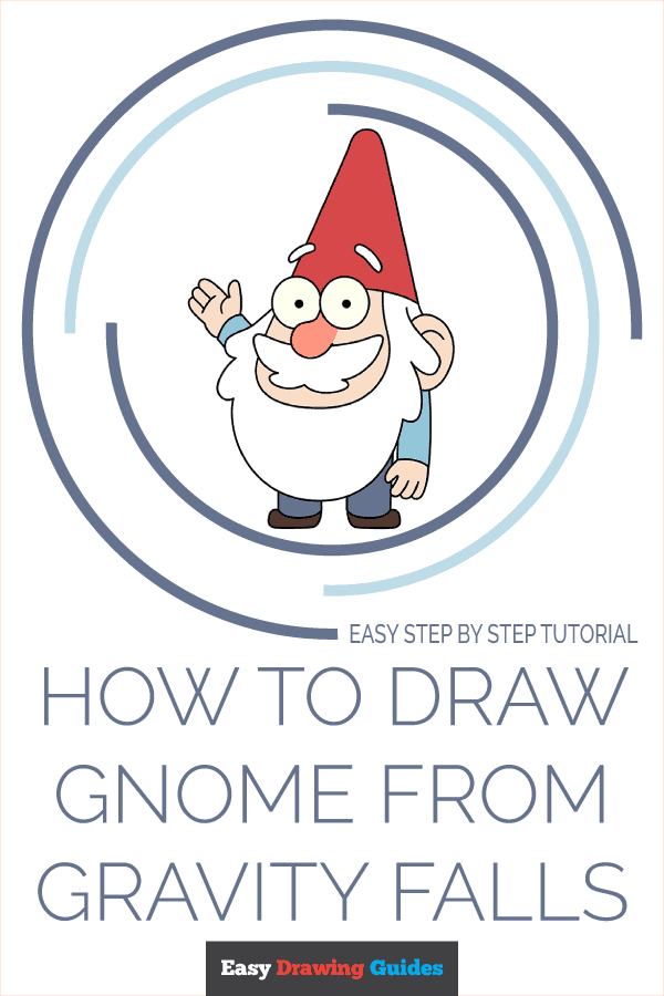 How to Draw Gnome from Gravity Falls | Share to Pinterest