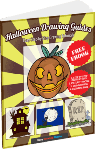 Halloween Drawing Guides - Free Ebook - 3D Thumbnail