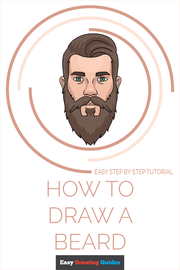 How to Draw Beard | Share to Pinterest