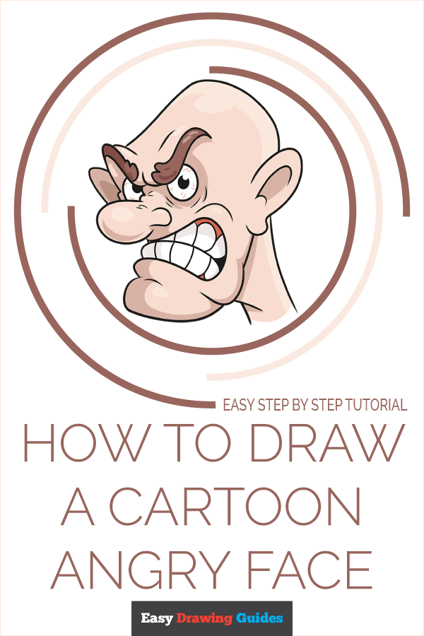 How to Draw Cartoon Angry Face | Share to Pinterest