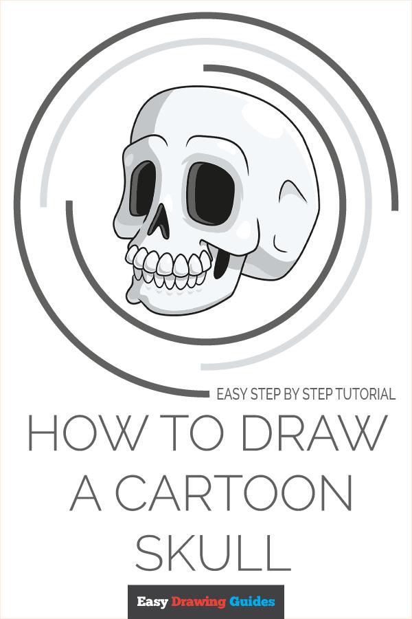 How to Draw a Cartoon Skull Pinterest Image