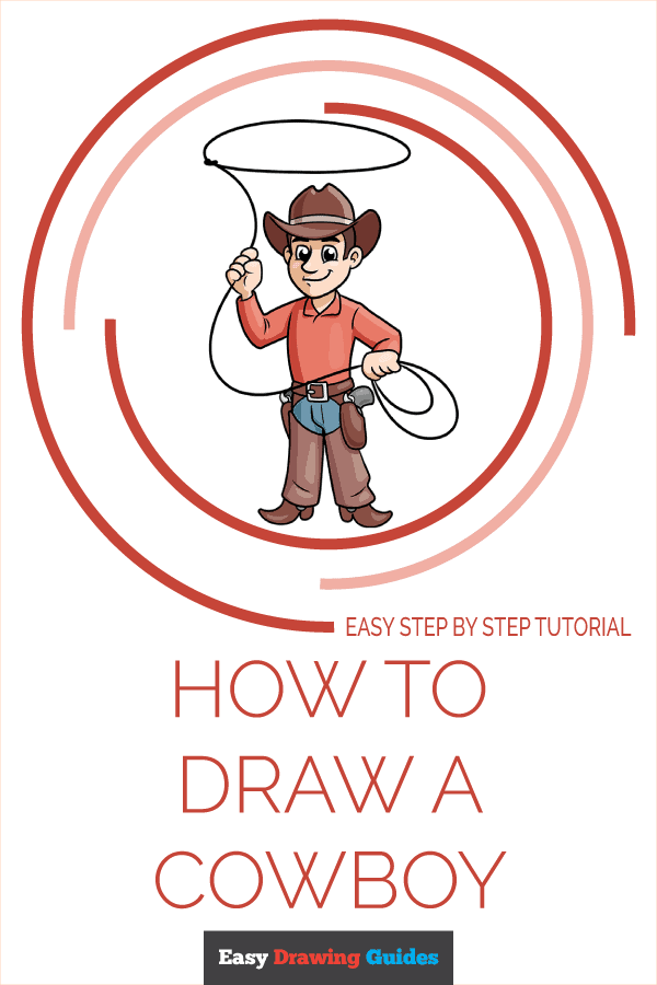 How to Draw a Cowboy Pinterest Image