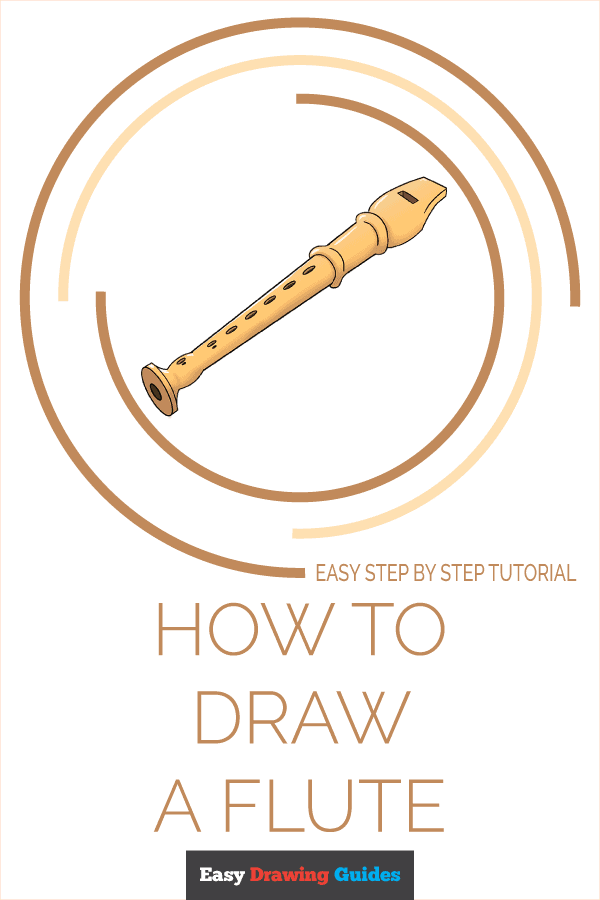 How to Draw Flute | Share to Pinterest
