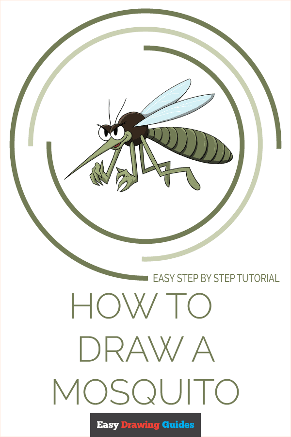 How to Draw a Mosquito Pinterest Image
