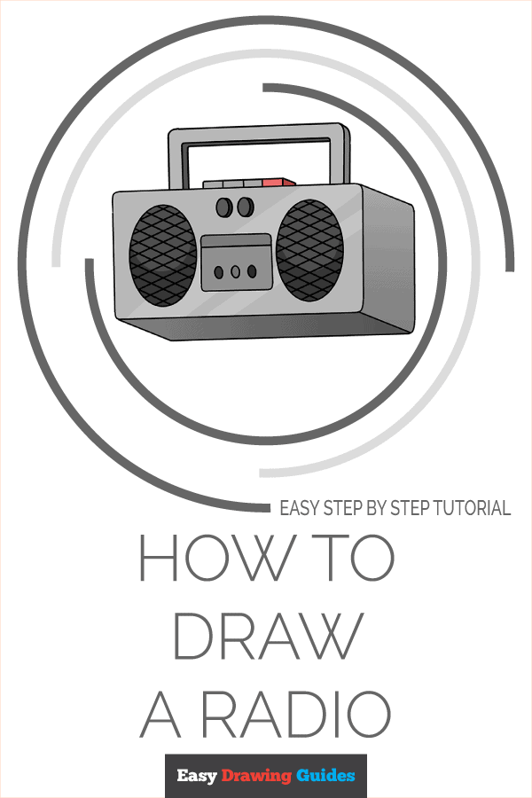 How to Draw Radio | Share to Pinterest