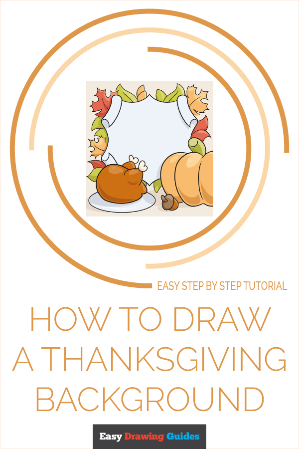 How to Draw a Thanksgiving Background Pinterest Image