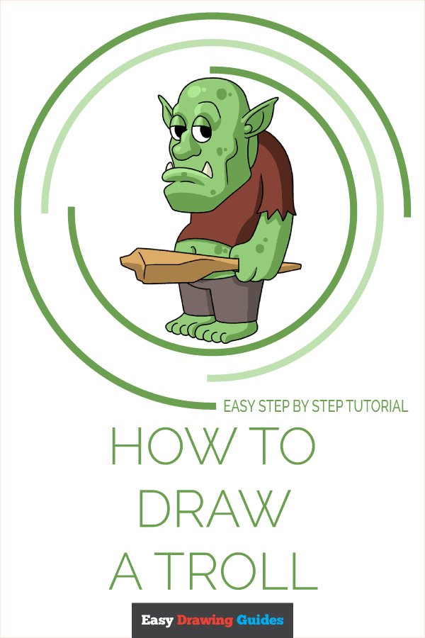 How to Draw a Troll Pinterest Image
