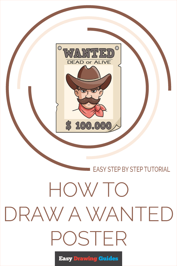 How to Draw Wanted Poster | Share to Pinterest
