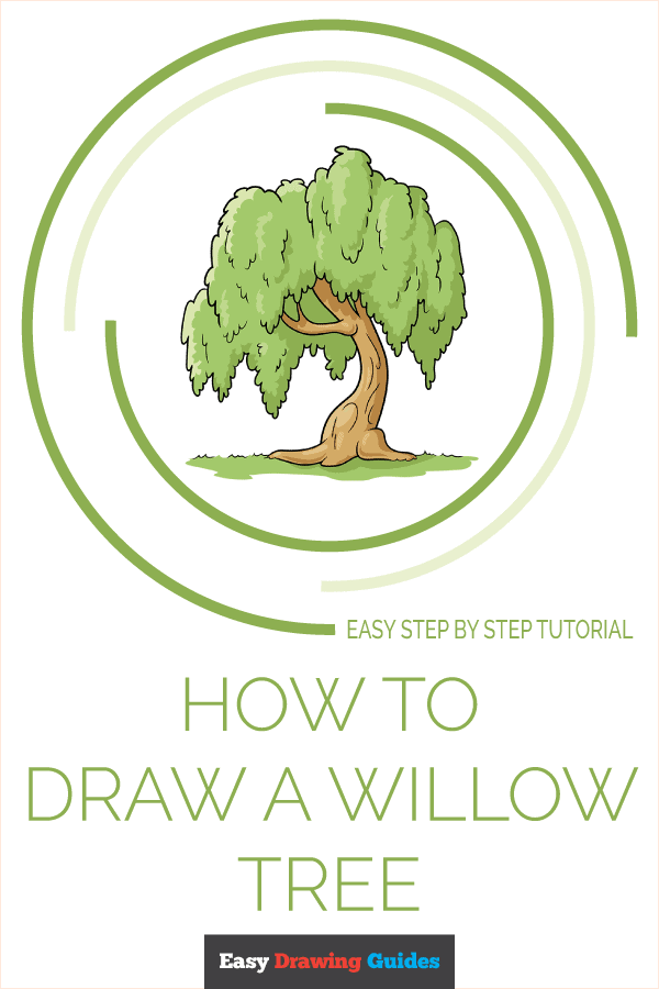 How to Draw a Willow Tree Pinterest Image