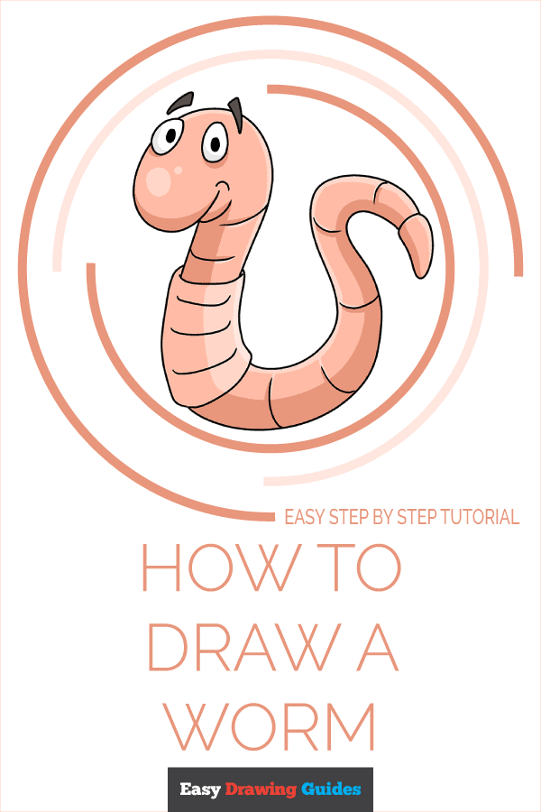 How to Draw a Worm Pinterest Image