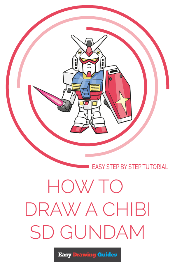 How to Draw Chibi SD Gundam | Share to Pinterest