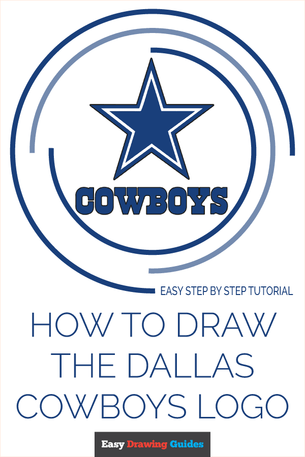How to Draw Dallas Cowboys Logo | Share to Pinterest