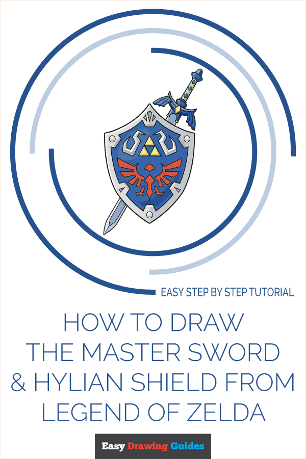How to Draw The Master Sword and Hylian Shield from the Legend of Zelda | Share to Pinterest