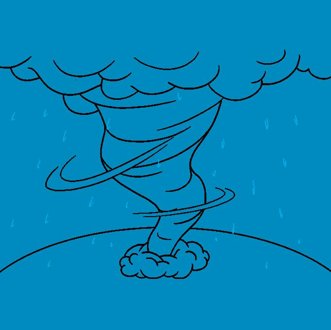 How to Draw Hurricane: Step 8