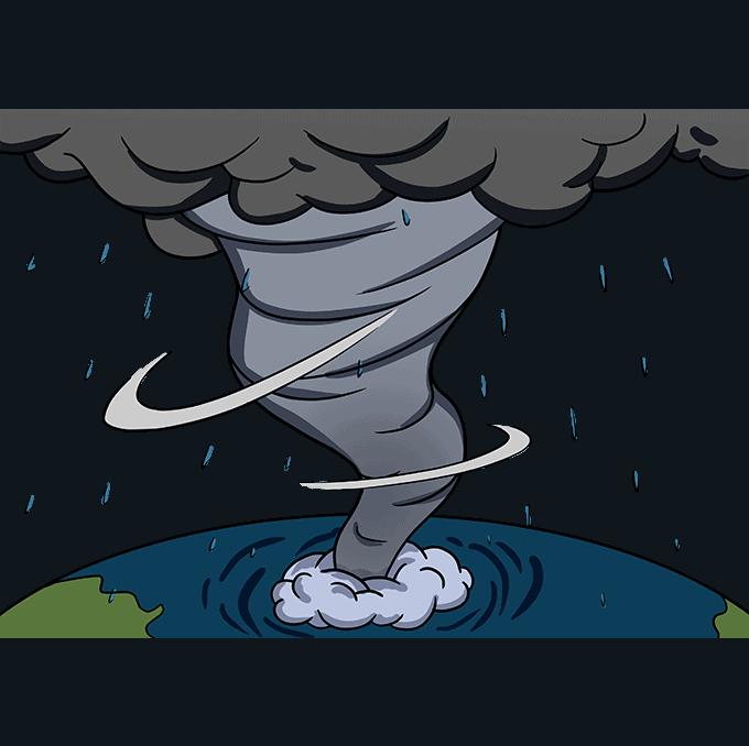 How to Draw Hurricane: Step 10