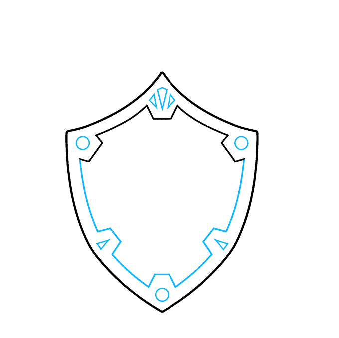 How to Draw The Master Sword and Hylian Shield from the Legend of Zelda: Step 2