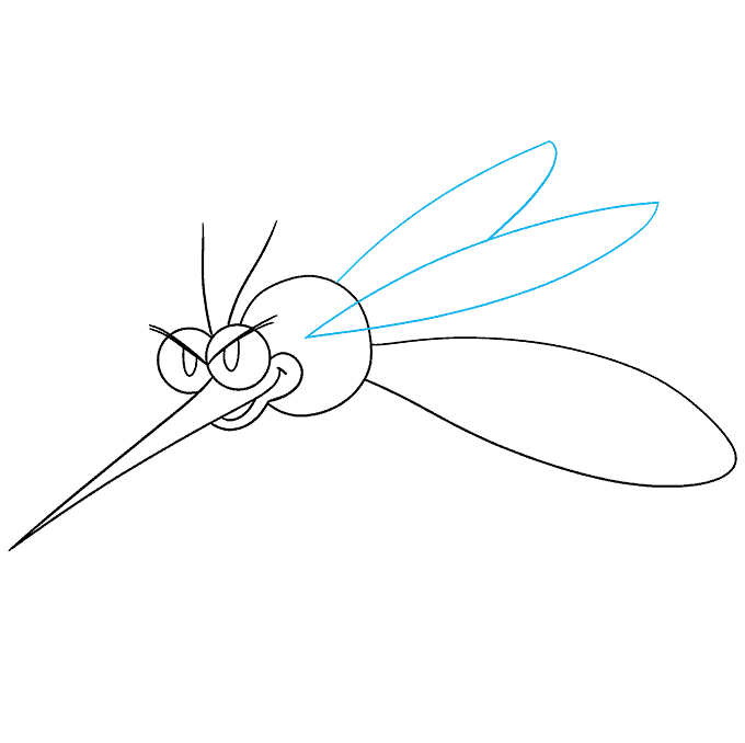 How to Draw a Mosquito Step 05
