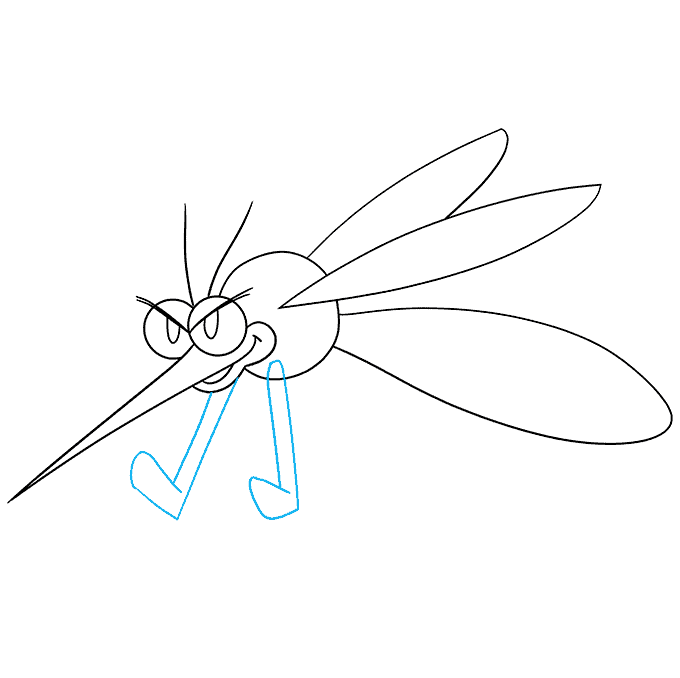 How to Draw a Mosquito Step 06