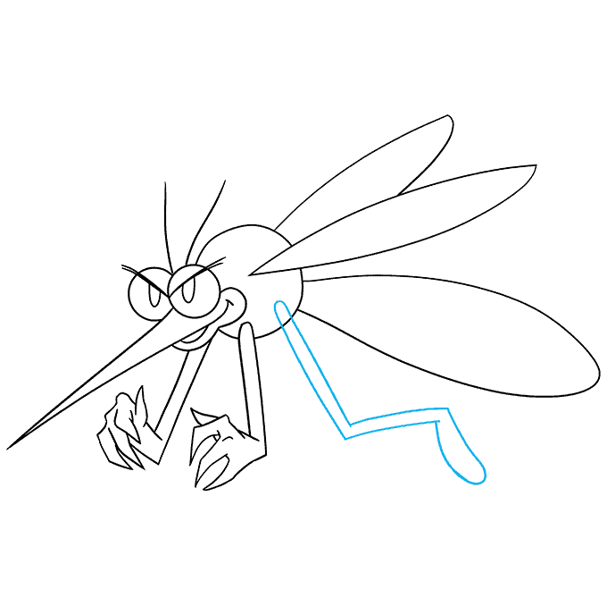 How to Draw a Mosquito Step 08