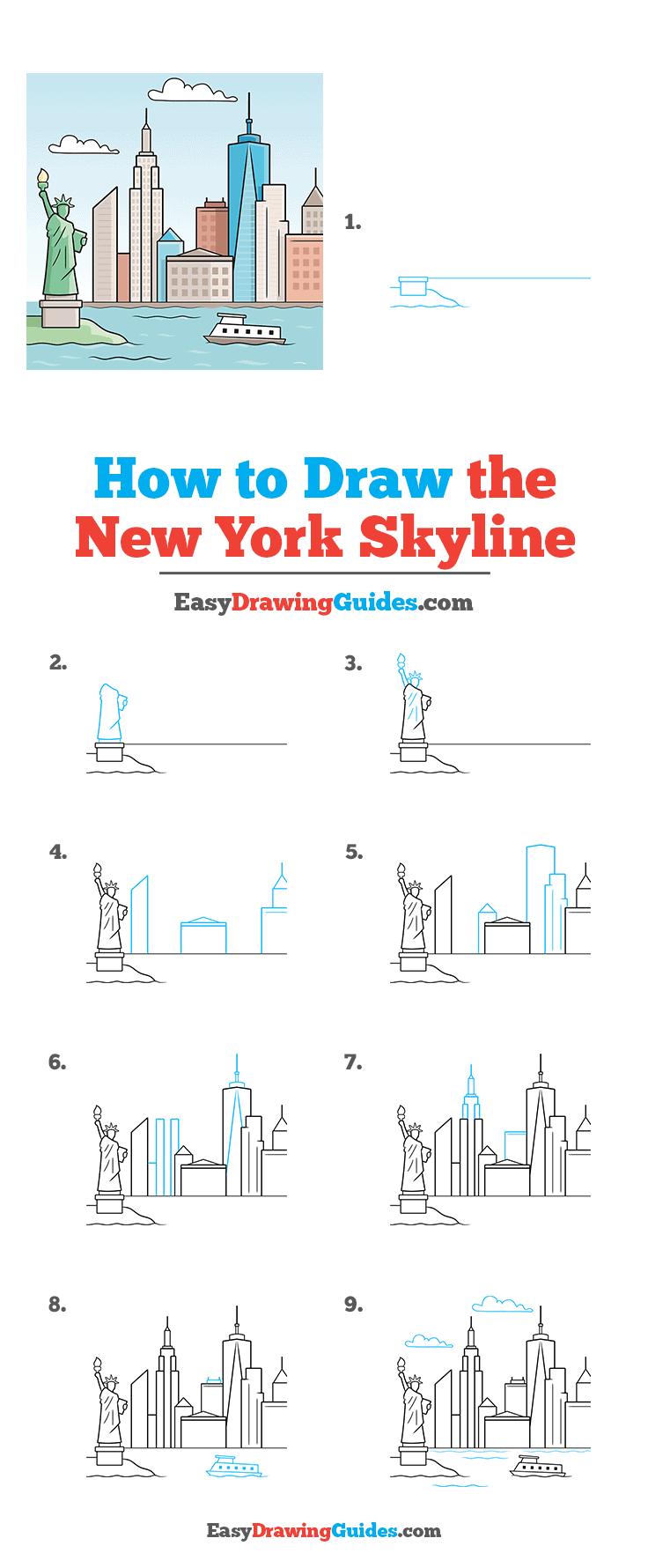 How to Draw New York Skyline