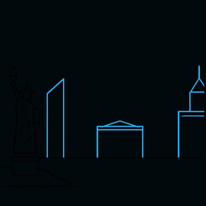 How to Draw New York Skyline: Step 4