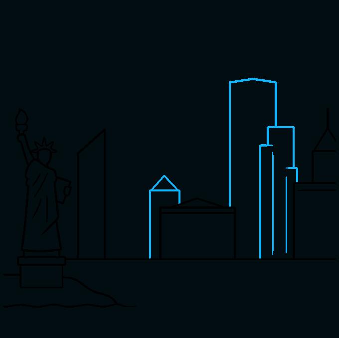 How to Draw New York Skyline: Step 5