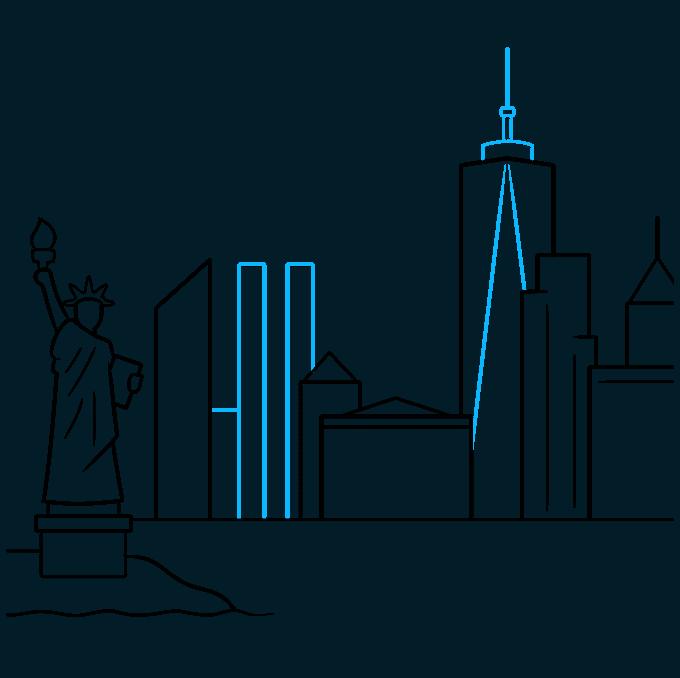 How to Draw New York Skyline: Step 6