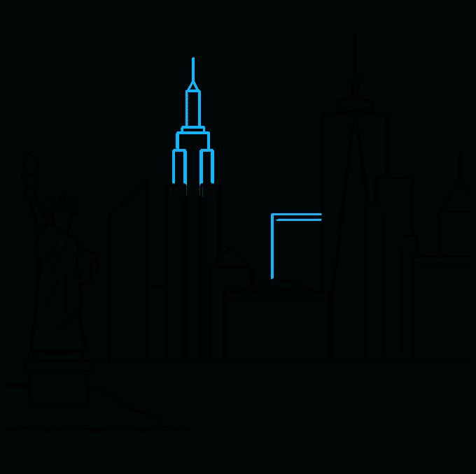 How to Draw New York Skyline: Step 7