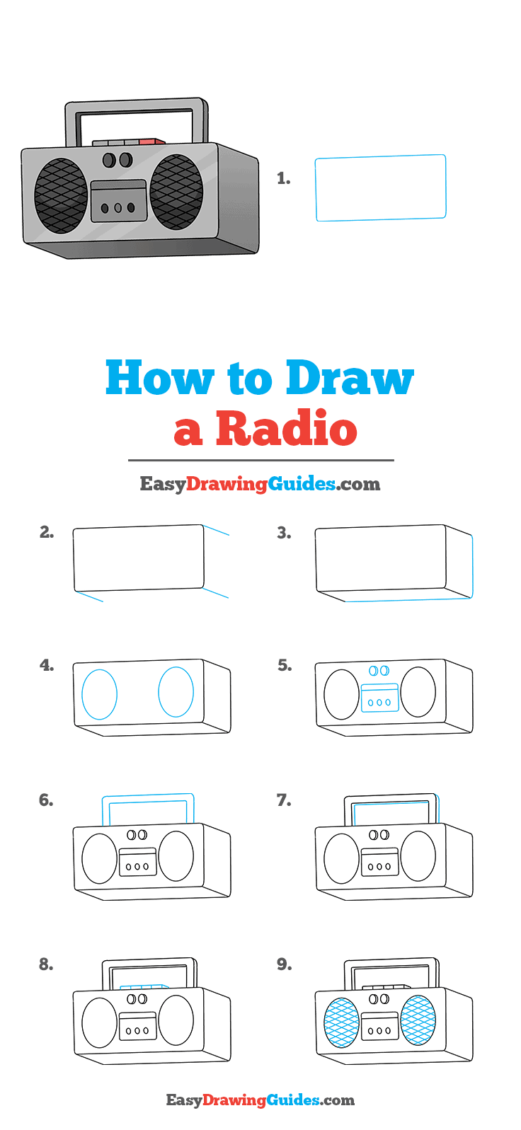 How to Draw Radio