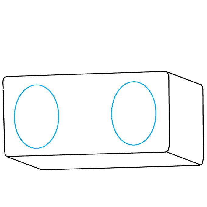 How to Draw Radio: Step 4