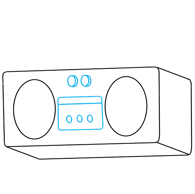 How to Draw Radio: Step 5