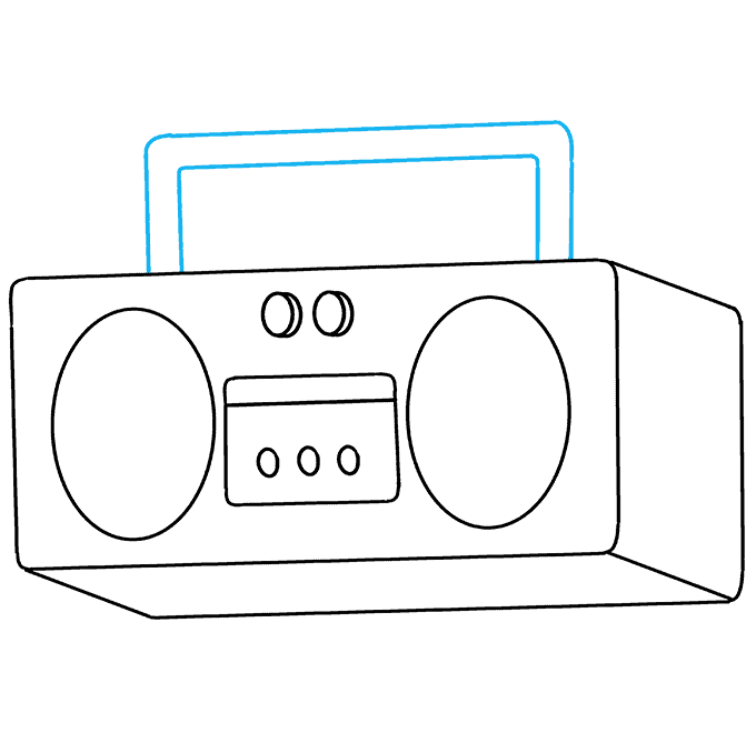 How to Draw Radio: Step 6