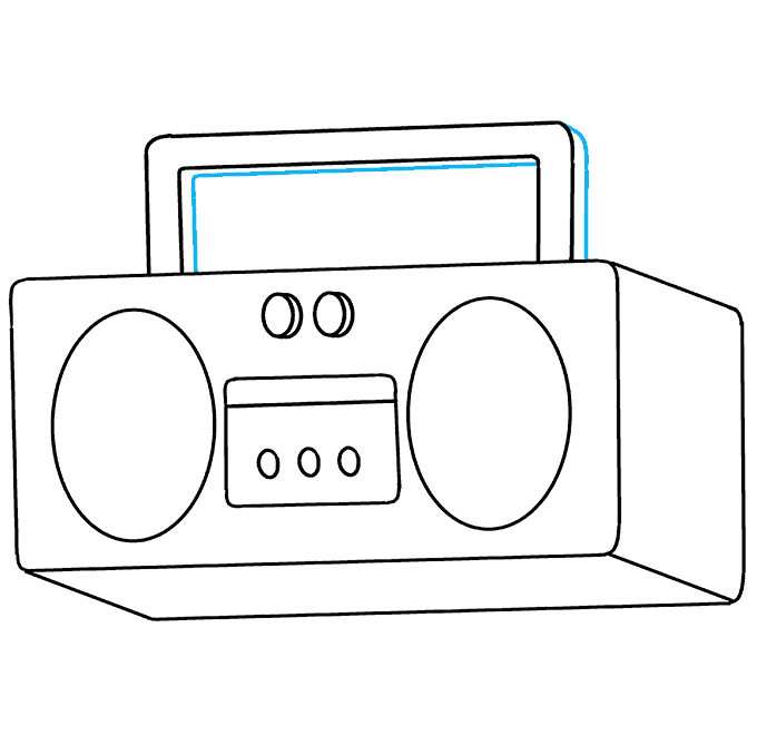How to Draw Radio: Step 7