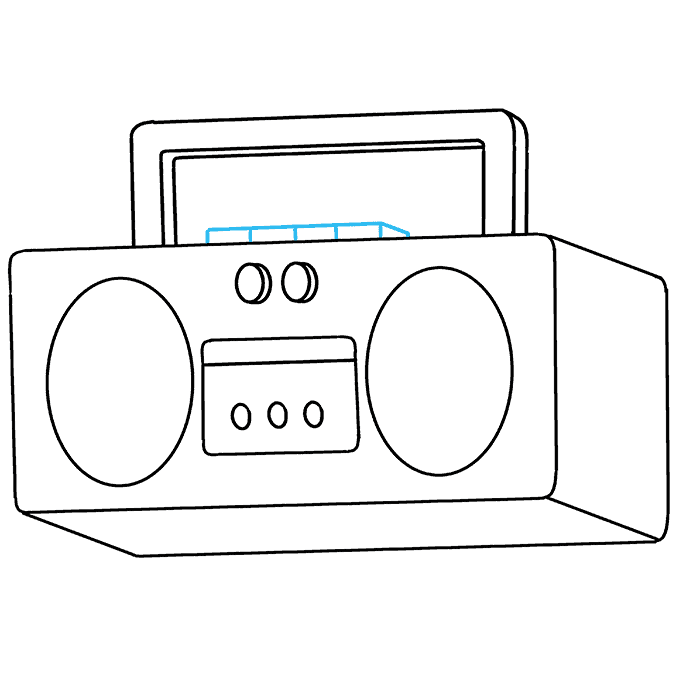 How to Draw Radio: Step 8
