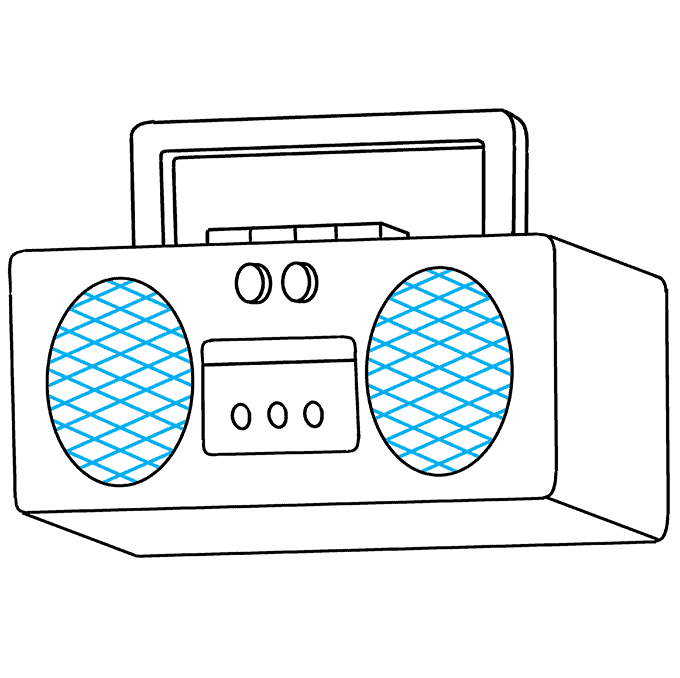 How to Draw Radio: Step 9