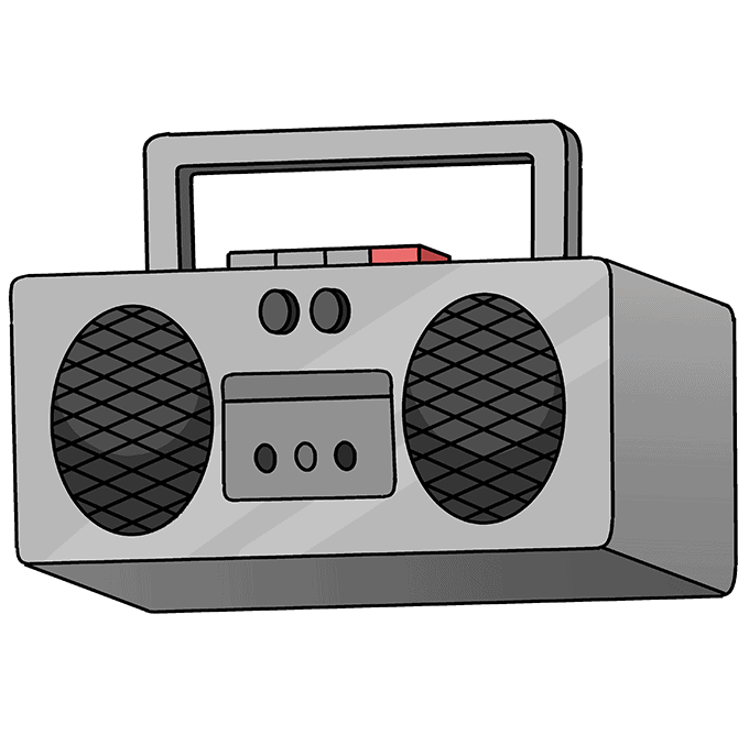 How to Draw Radio: Step 10